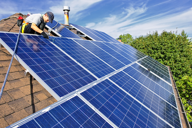 solar power panels on sacramento homes