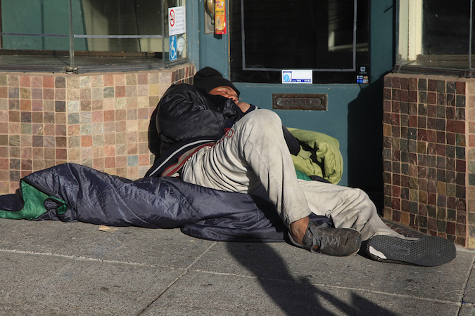 homeless people a material fact