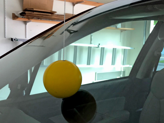 Hanging A Garage Tennis Ball Without Denting The Car