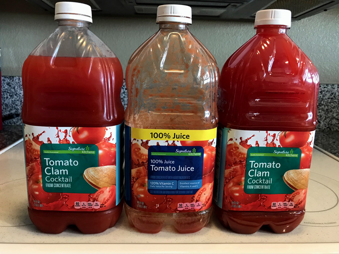 tomato juice vs clamato juice