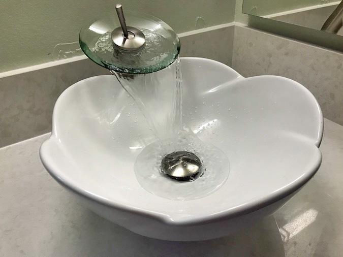 Lotus Vessel Sink Waterfall Faucet Archives Elizabeth Weintraub