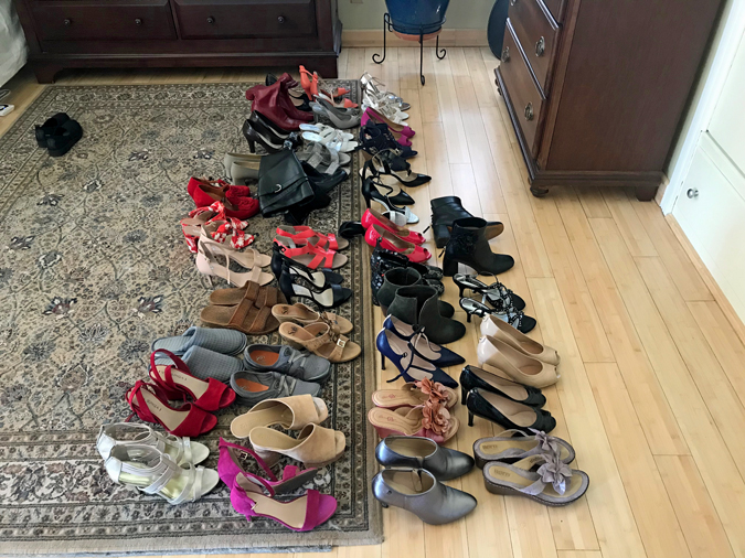 too many pairs of shoes