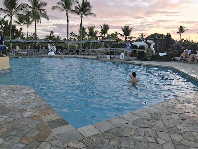 sunset terrace restaurant and bar at kona coast resorts